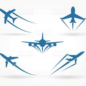 Vector Airplane Symbol: Stock Illustration Airplane Plane Vector Icon Logo Black Symbol Concept Image