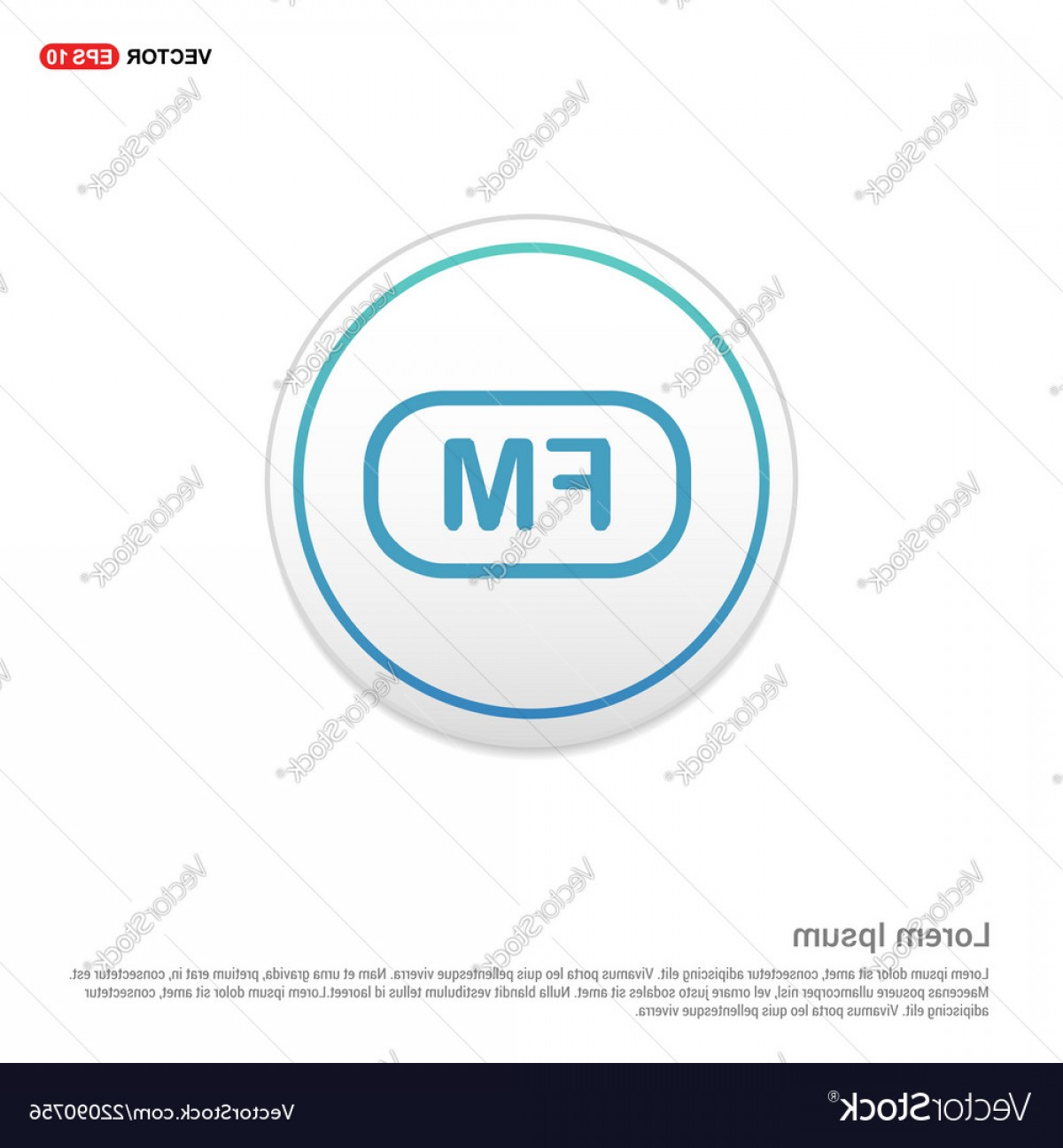 Radio Frequency Vector: Fm Radio Frequency Icon White Circle Button Vector