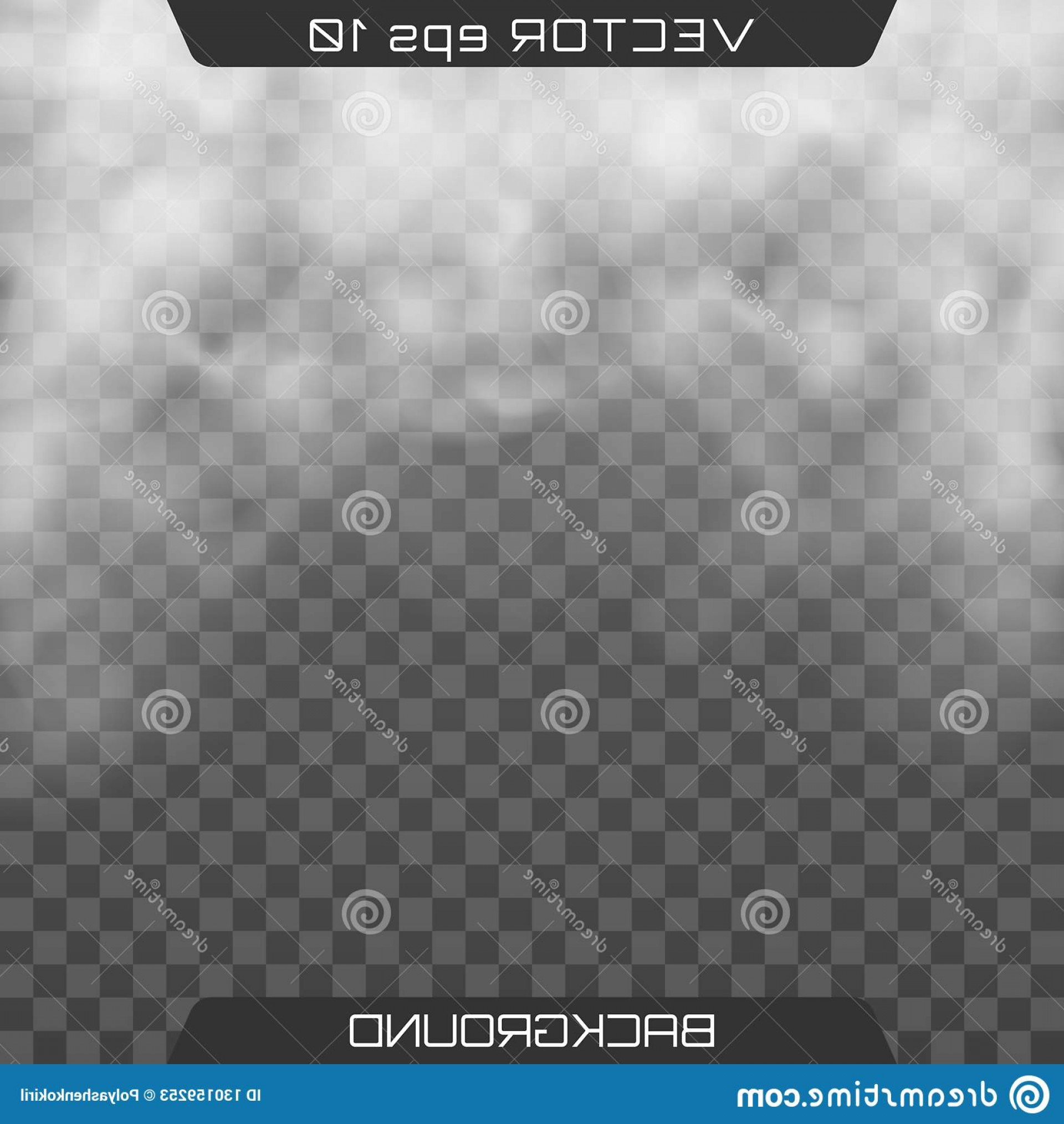 Billow Smoke Vector: Fog Smoke Isolated Transparent Special Effect Realistic Cloud Dark Background Vector Image