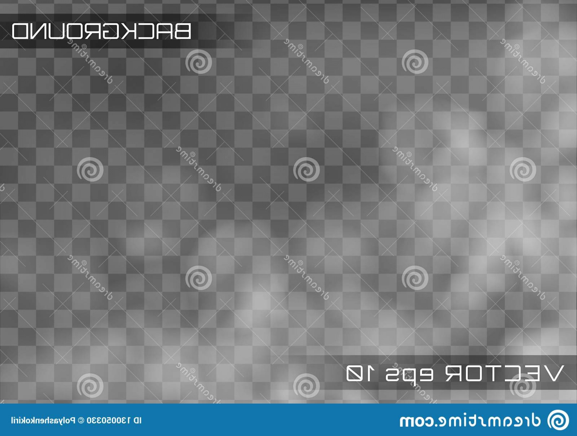 Billow Smoke Vector: Fog Smoke Transparent Special Effect Vector Realistic Background White Cloudiness Mist Smog Image