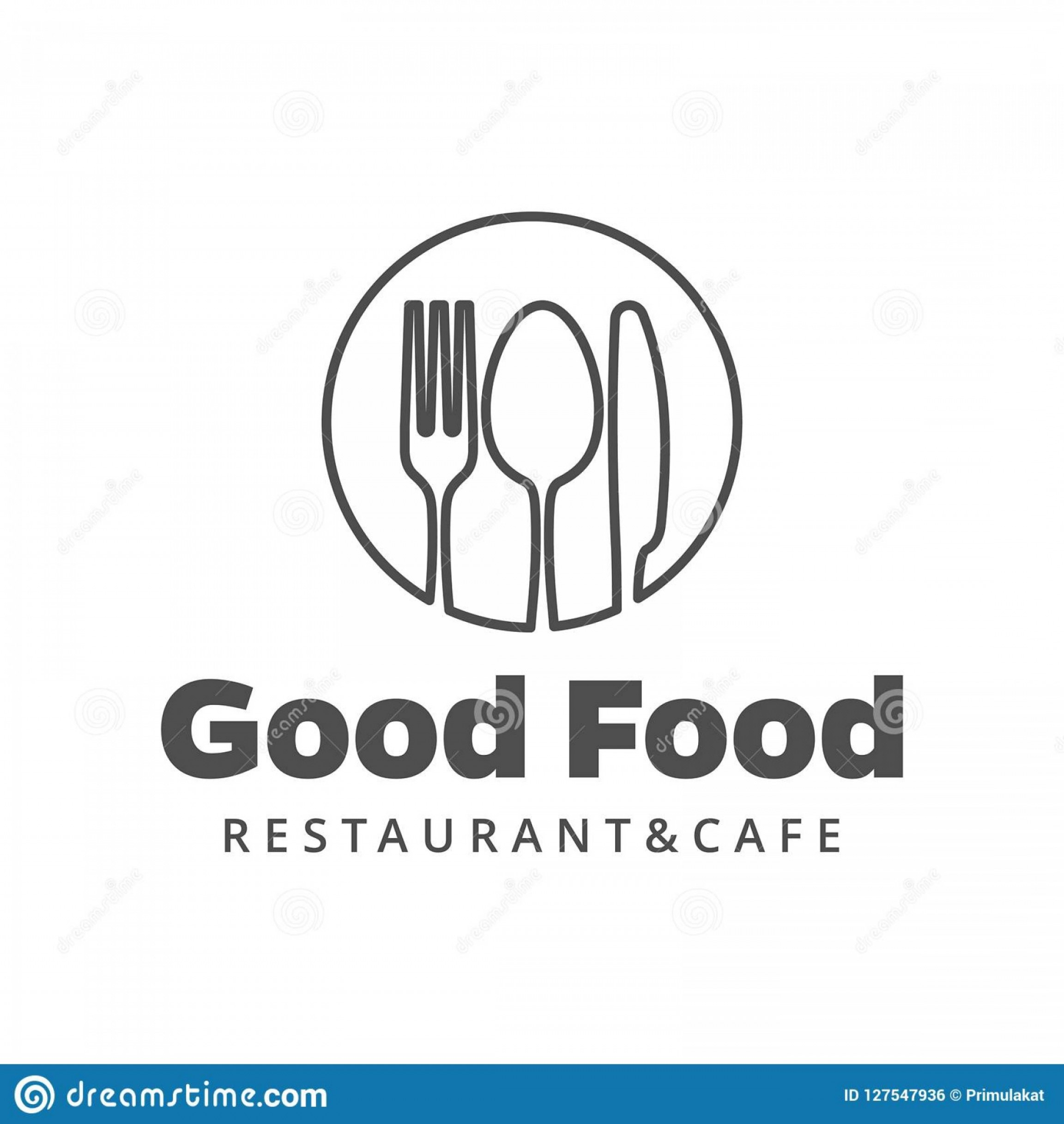 Modern Knife Fork And Spoon Vector Logo: Food Vector Logo Fork Knife Spoon Isolated Sign Cutlery Circle Form Company Restaurant Name Image