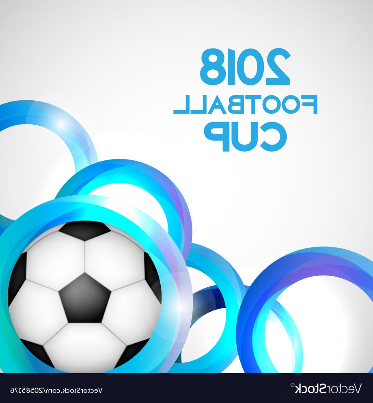 Soccer Blue Background Vector Graphics: Football Cup Sport Background Vector