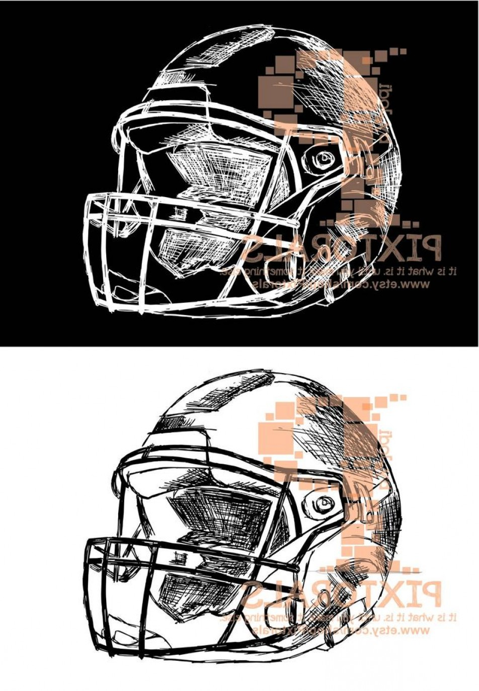 Screen Printing Equipment Vector: Football Helmet Drawing Vector Format As