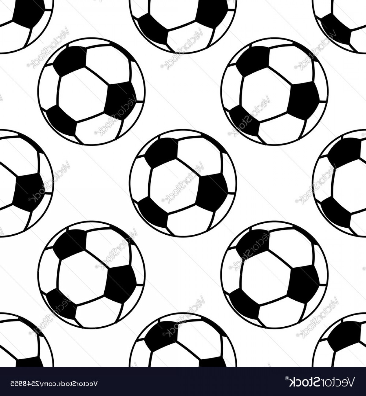 Vector Soccer Ball Pattern: Football Or Soccer Ball Seamless Pattern Vector