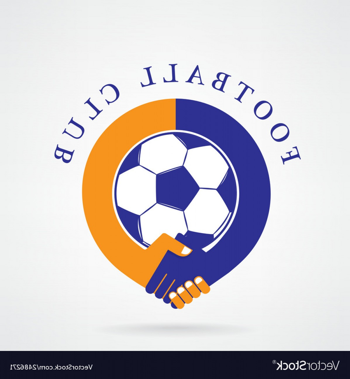 Abstract Football Vector Outline: Football Sign And Handshake Abstract Design Vector
