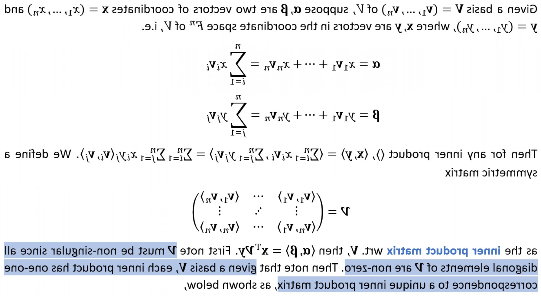Linear Algebra Vector Zero: For Any Inner Product Can We Always Find A Symmetric Orthonormal Basis