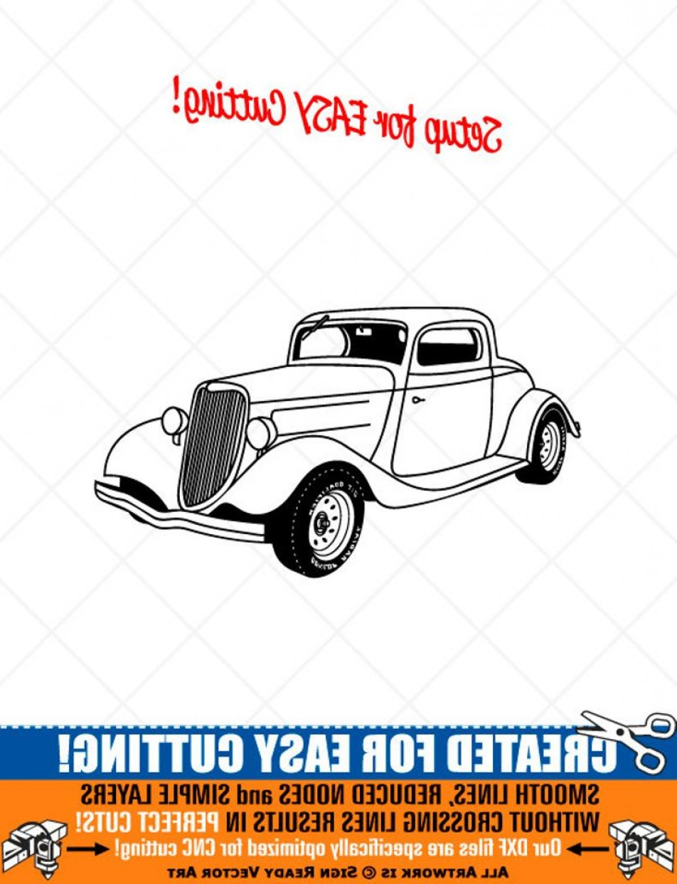 Ford Vector Art: Ford Hot Rod Clipart Vector Clip