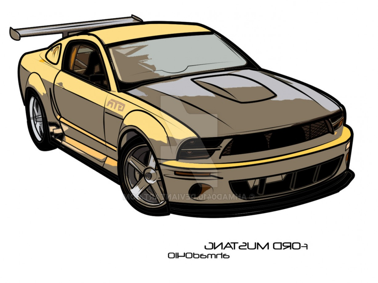 Ford Vector Art: Ford Mustang Vector Art
