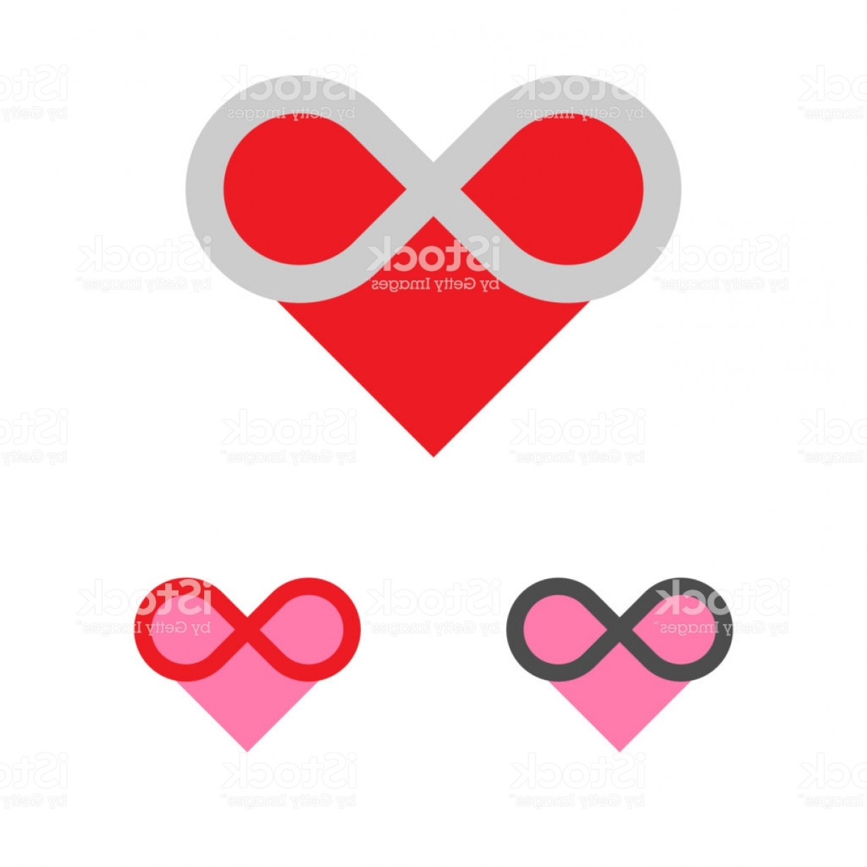 Infinity Grunge Heart Vector: Forever Love Logo Template Heart Infinity Logotype Charity Or Gm
