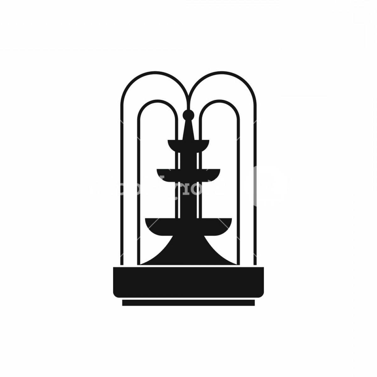 RZR Vector Black And White: Fountain Icon In Simple Style Water Source Symbol Isolated Vector Illustration Bzzxnjwofjfqxgcf