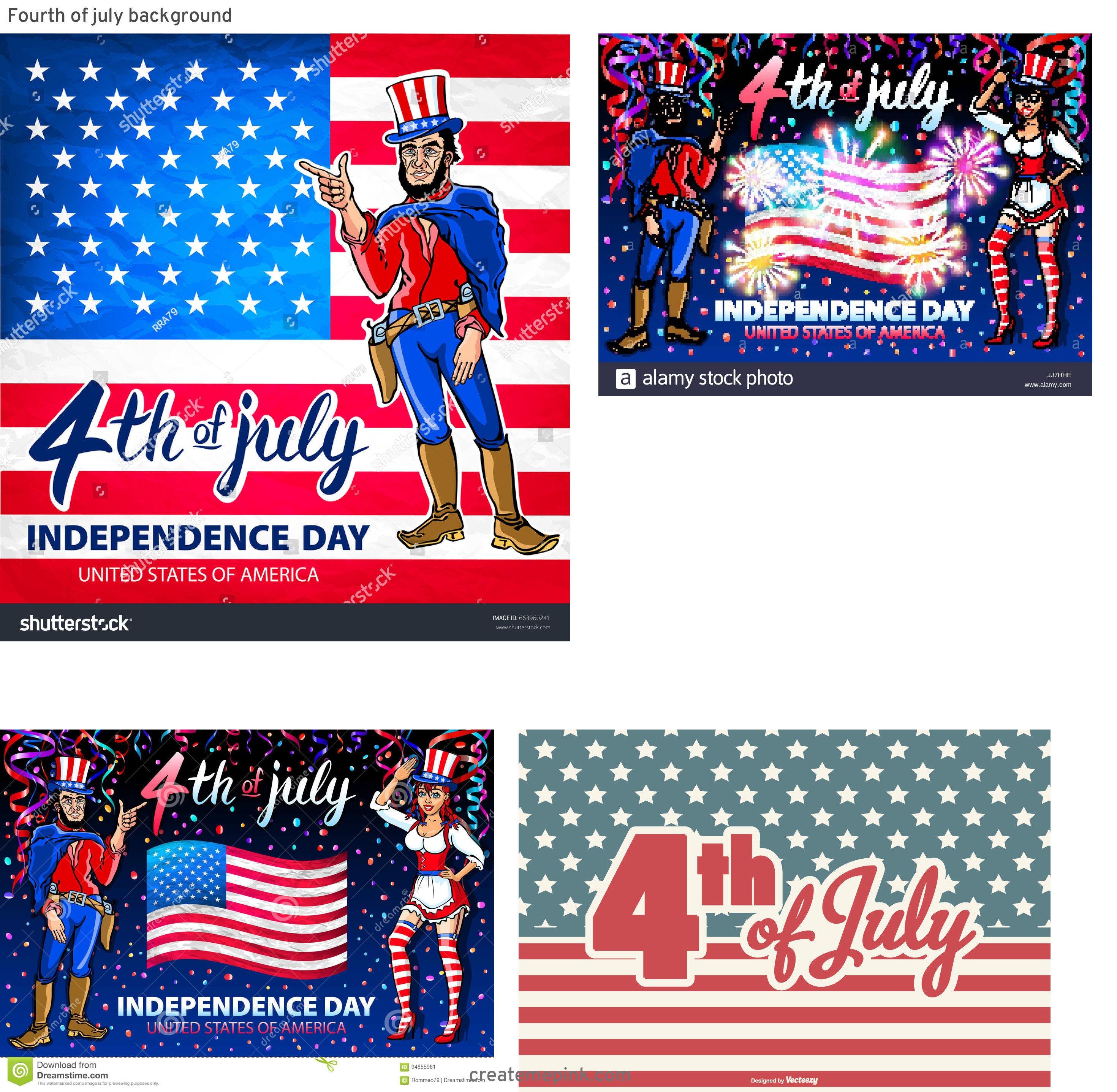 4th Of July Vectors For Men's: Fourth Of July Background