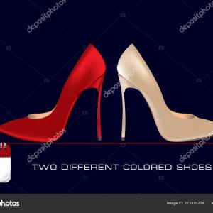 Stiletto Red Bottomsvector: Foot In A Red Shoe Diagram Vector