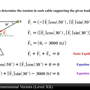 Vector Calculus Equation.3: Formula Calculation Smartphone Interface Vector Template