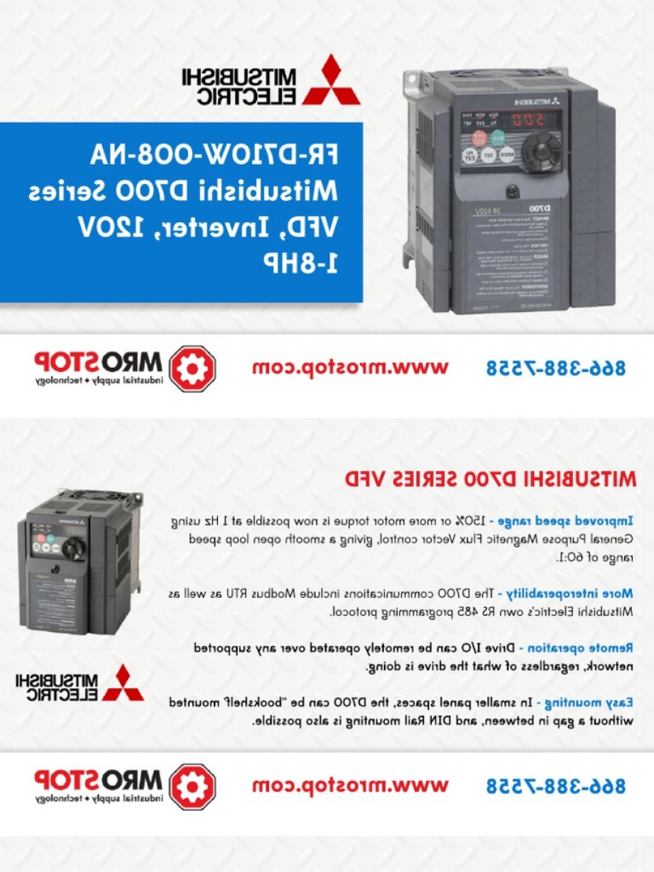 Vector Power Inverter Remote: Fr Dw Na Mitsubishi Vfd