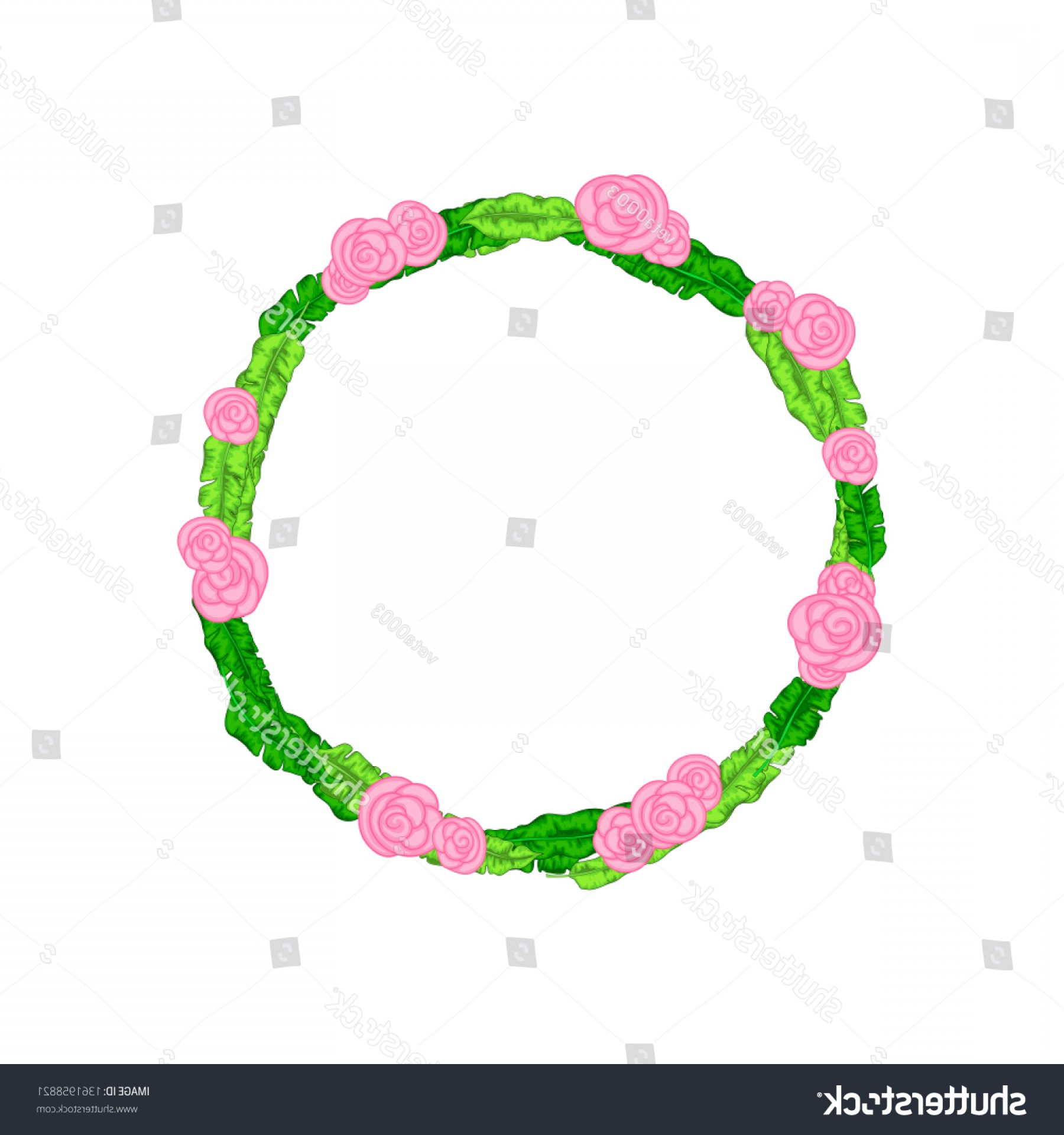 Beautiful Flowers Vector Graphic: Frame Beautiful Flowers Vector Graphics