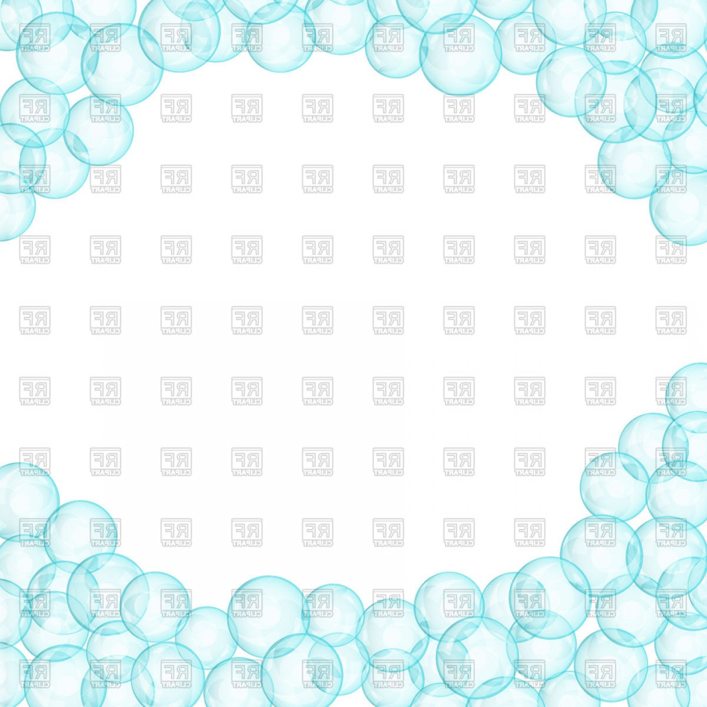 EPS Vector Soap Bubbles: Frame Made Of Soap Bubbles Vector Clipart