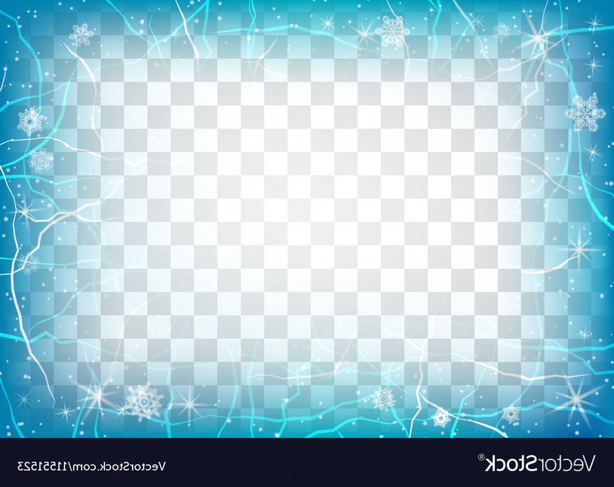 Frost Border Vector: Frame Of Ice On Transparent Background Winter Vector
