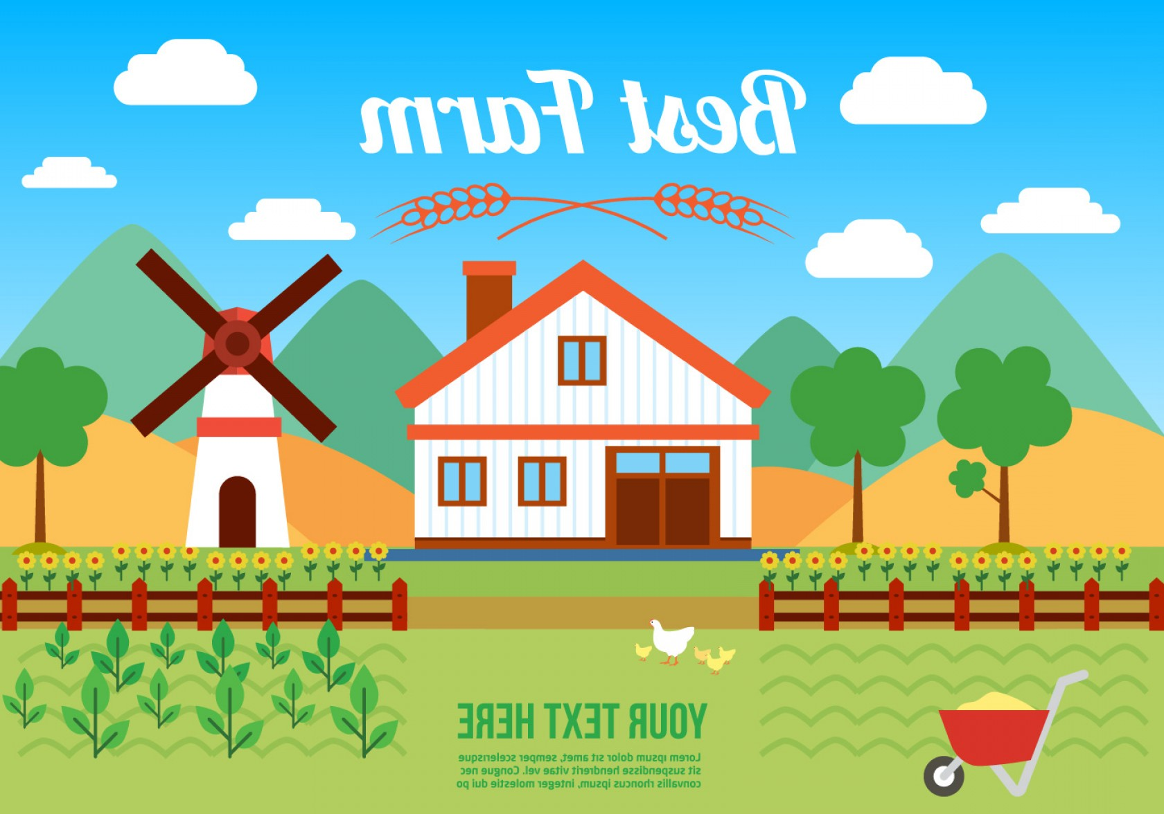 Farm Vector Illustration: Free Agro Farm Vector Illustration