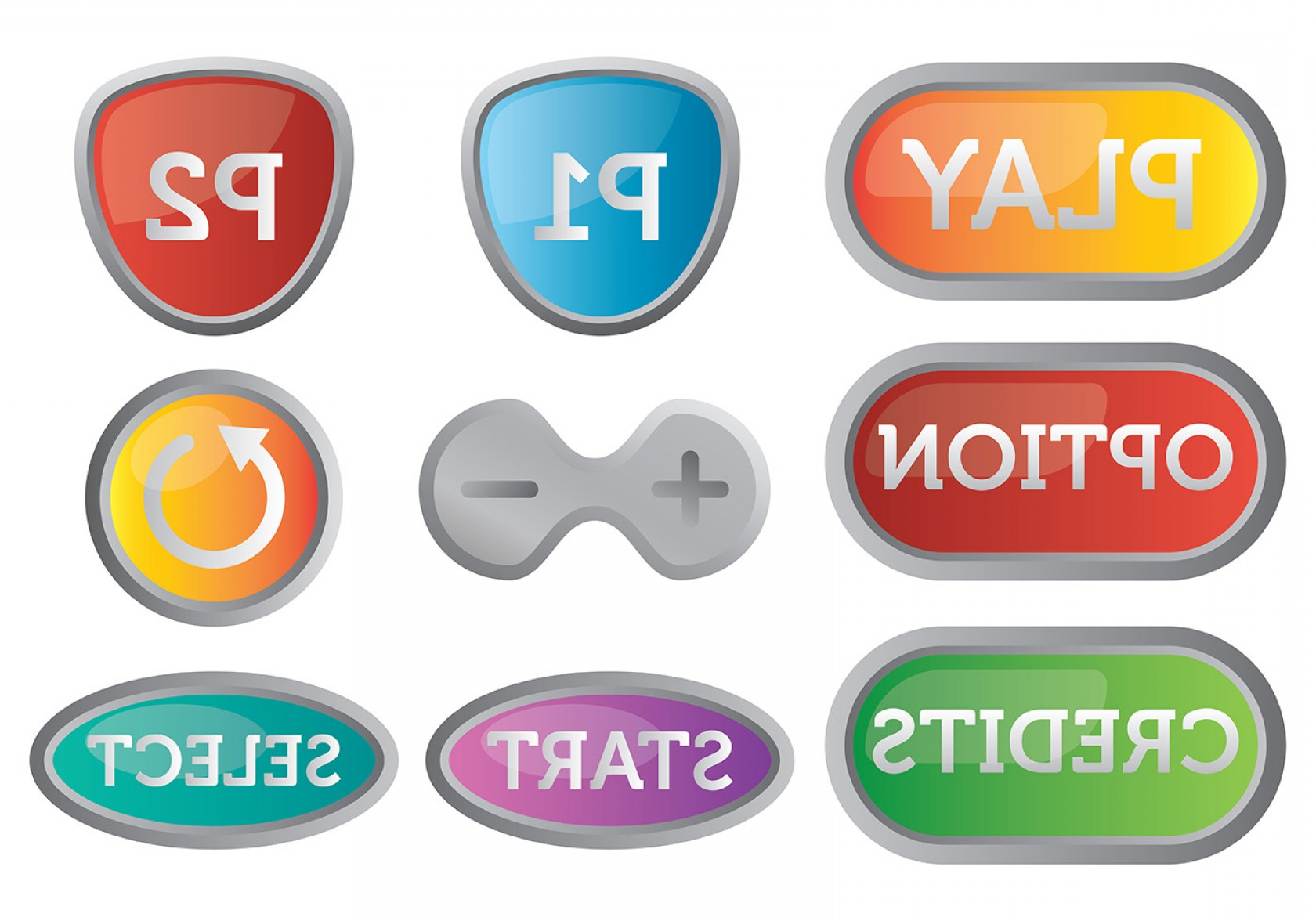 Contact Button Icons Vector Free: Free Arcade Button Icons Vector