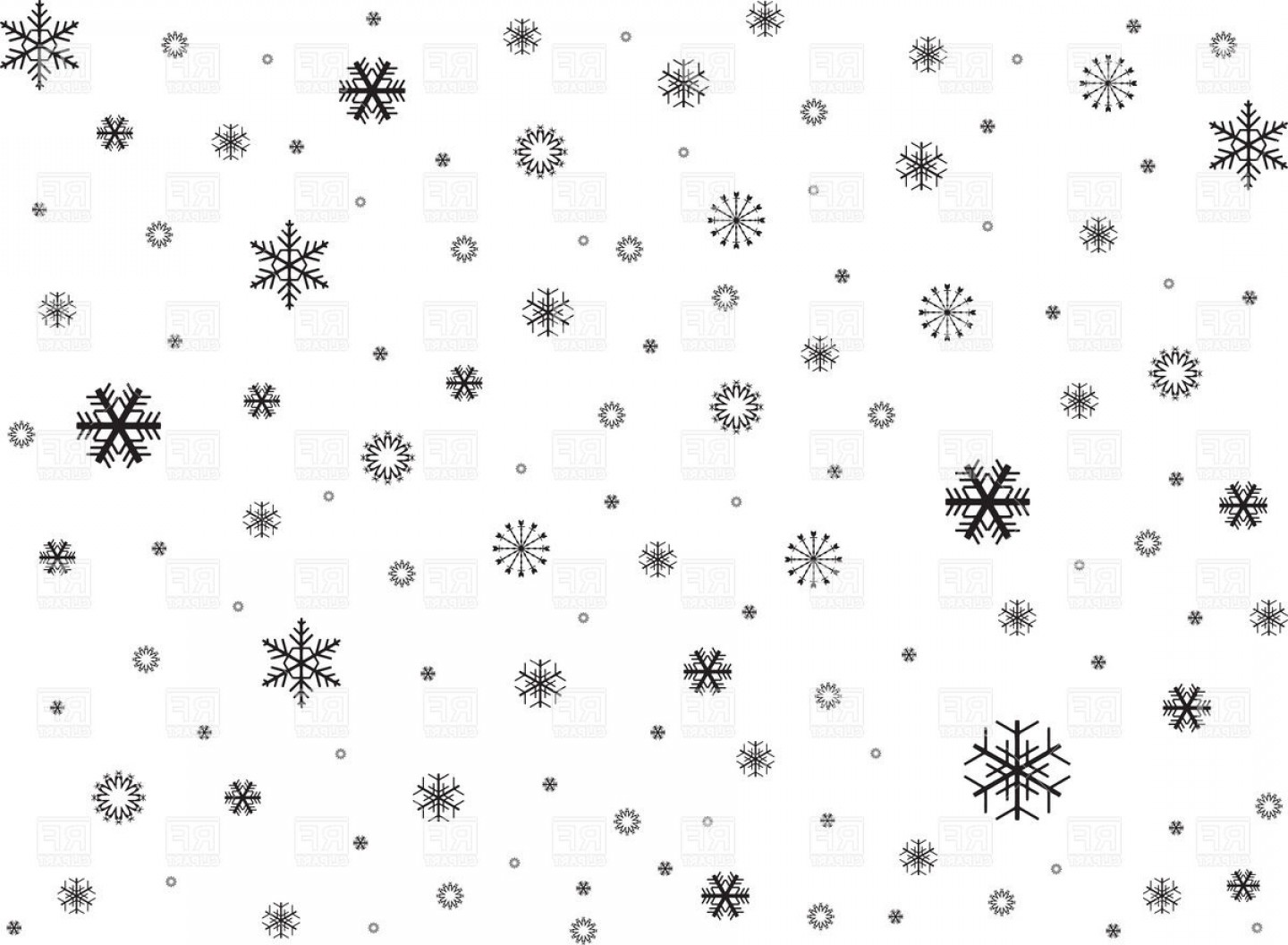 Vector Background Clip Art: Free Black And White Snowflake Clipart