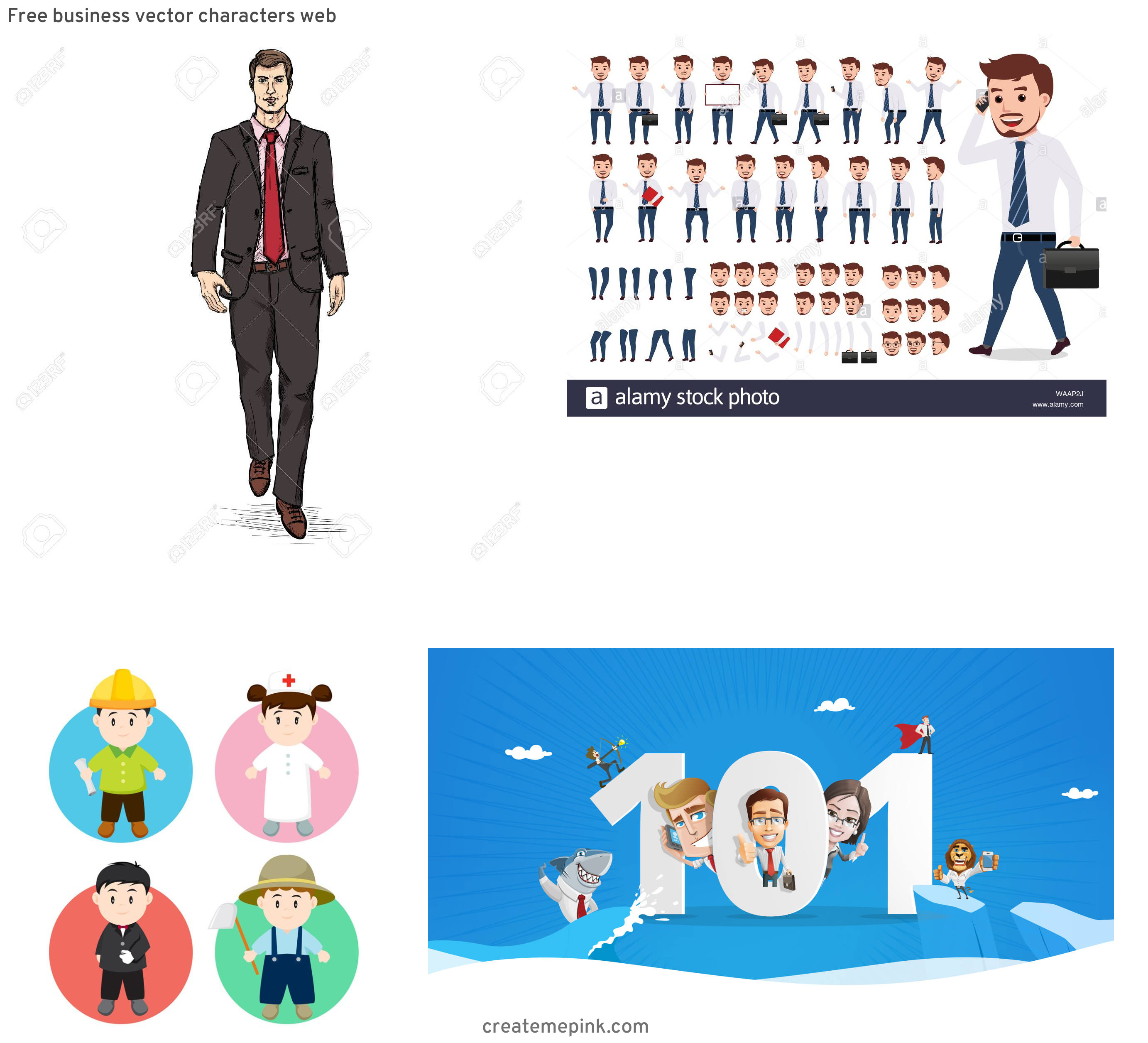 Vector Business Attire: Free Business Vector Characters Web