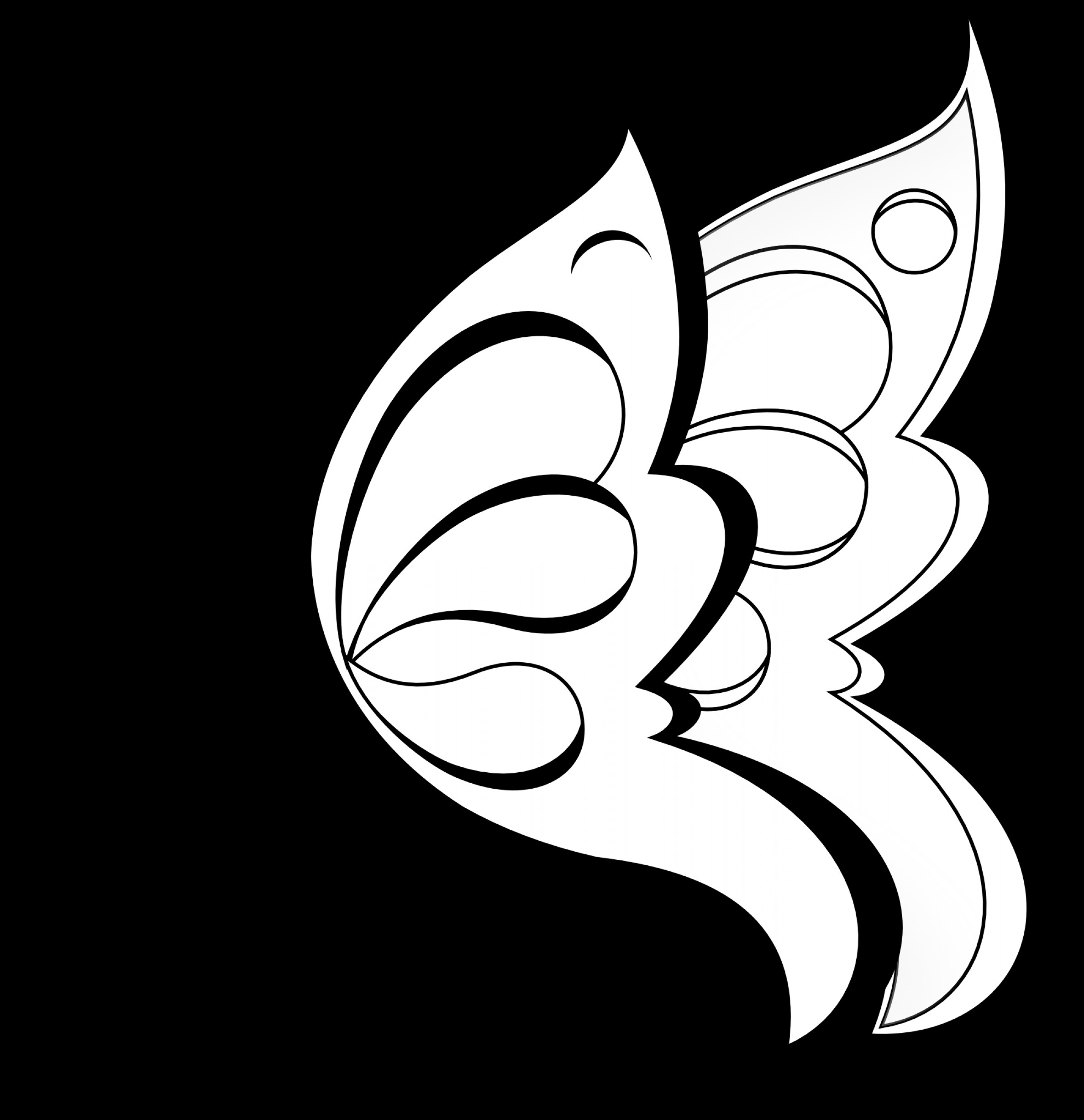 Vector Butterfly Clip Art: Free Butterfly Clipart Black And White