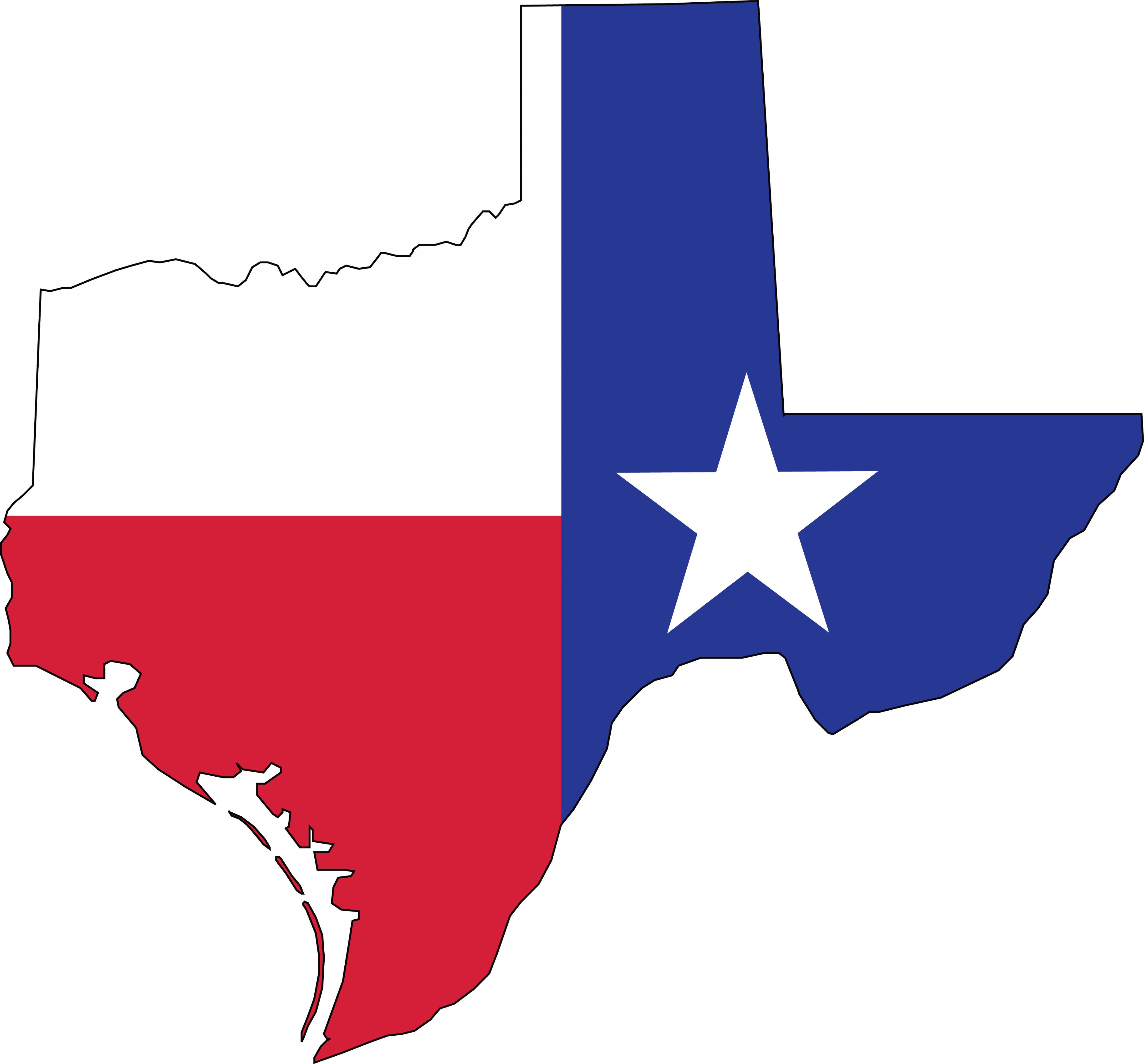 Texas Flag Vector Art: Free Clipart Of A Texas Flag Map