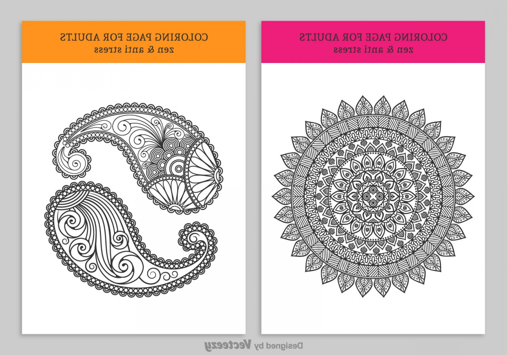 Vector Coloring Sheet: Free Coloring Pages For Adults