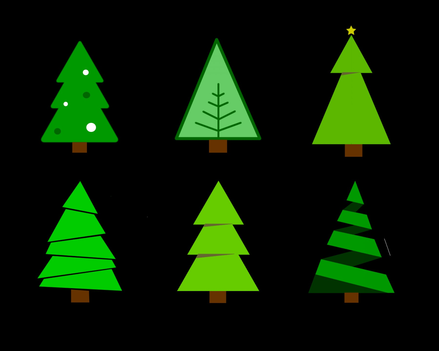 Pine Tree Vector Format: Free Colour Chirstmas Tree Vector Graphics