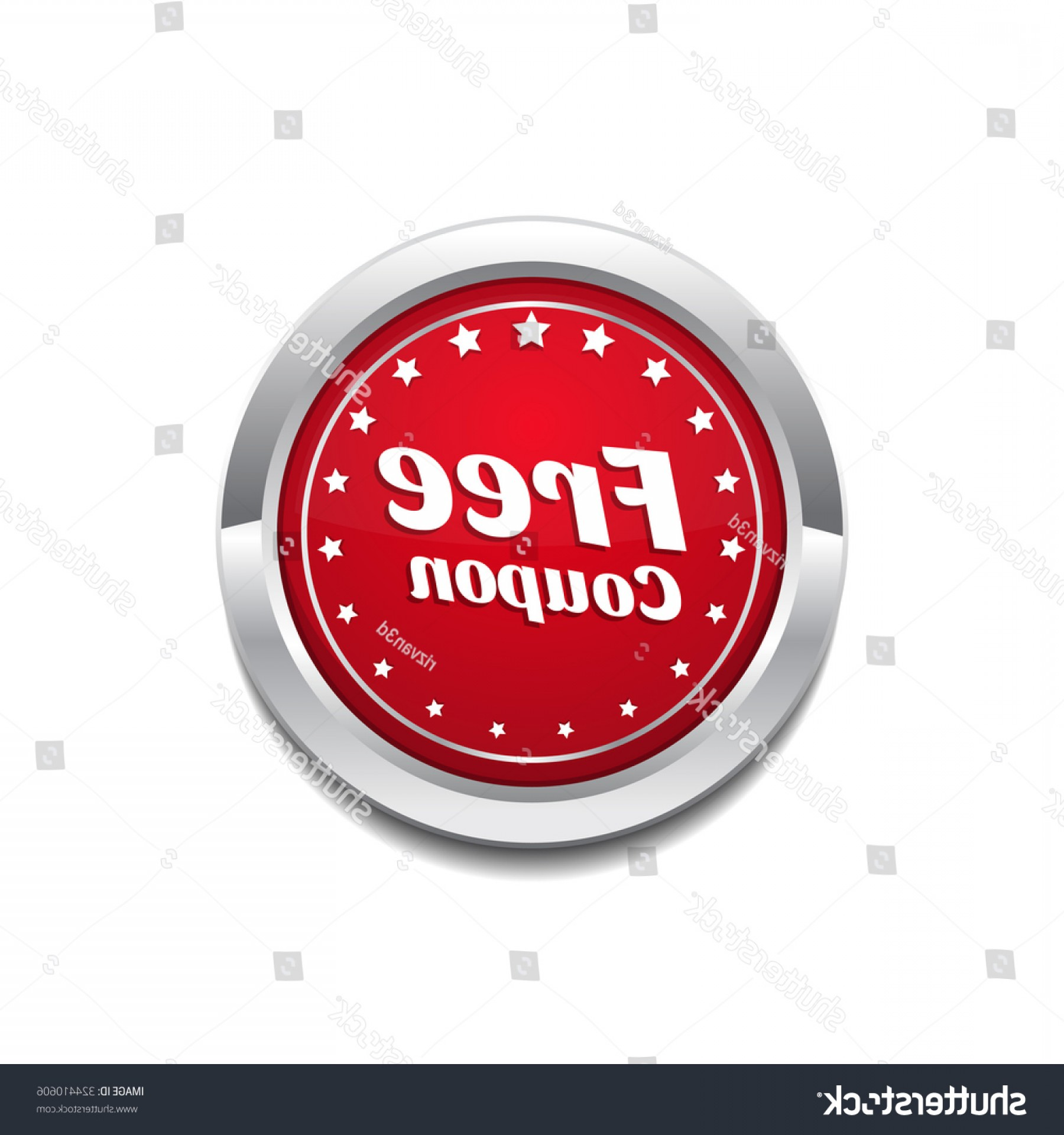 RedVector Coupon: Free Coupon Red Vector Icon Button