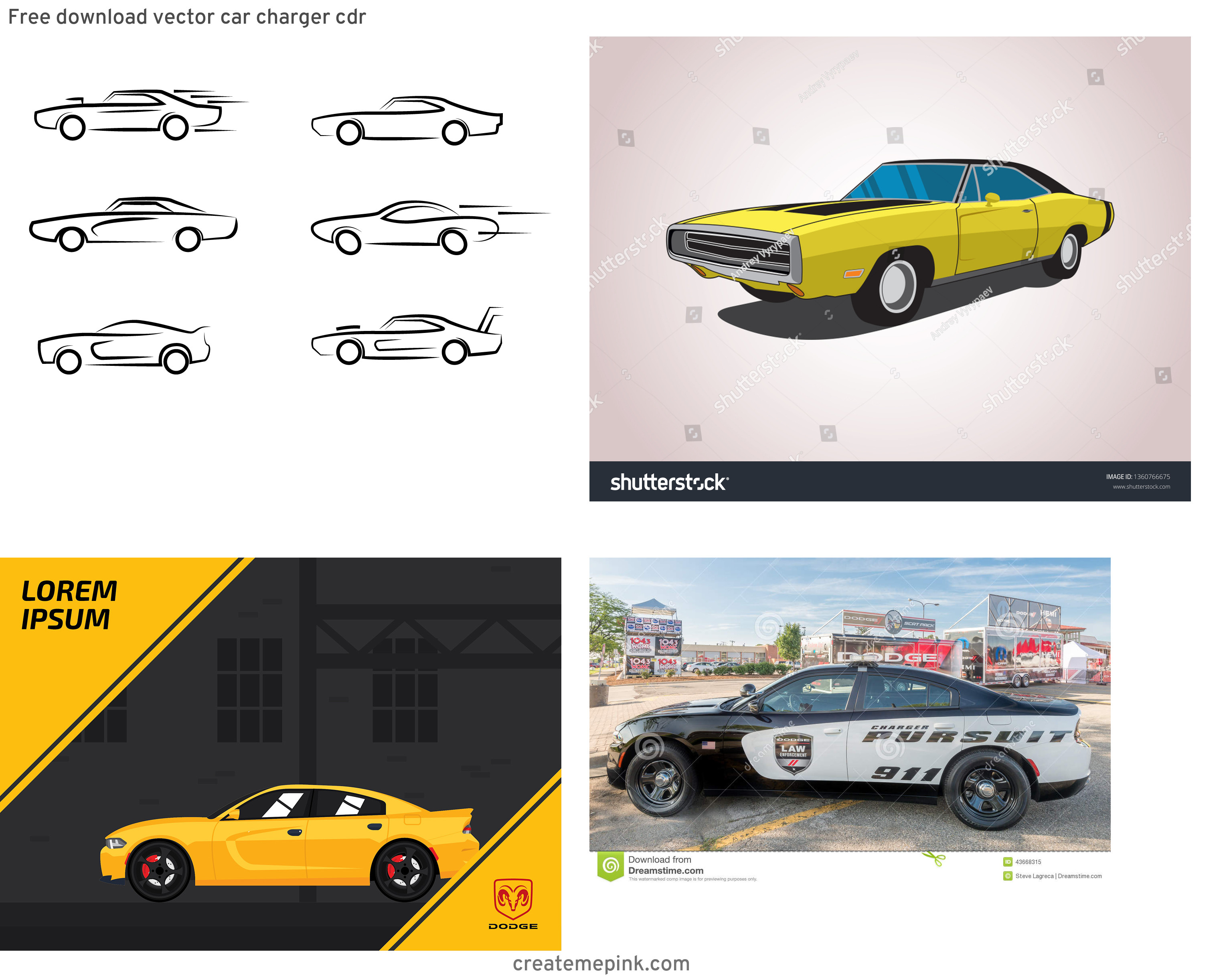 Dodge Charger Vector: Free Download Vector Car Charger Cdr