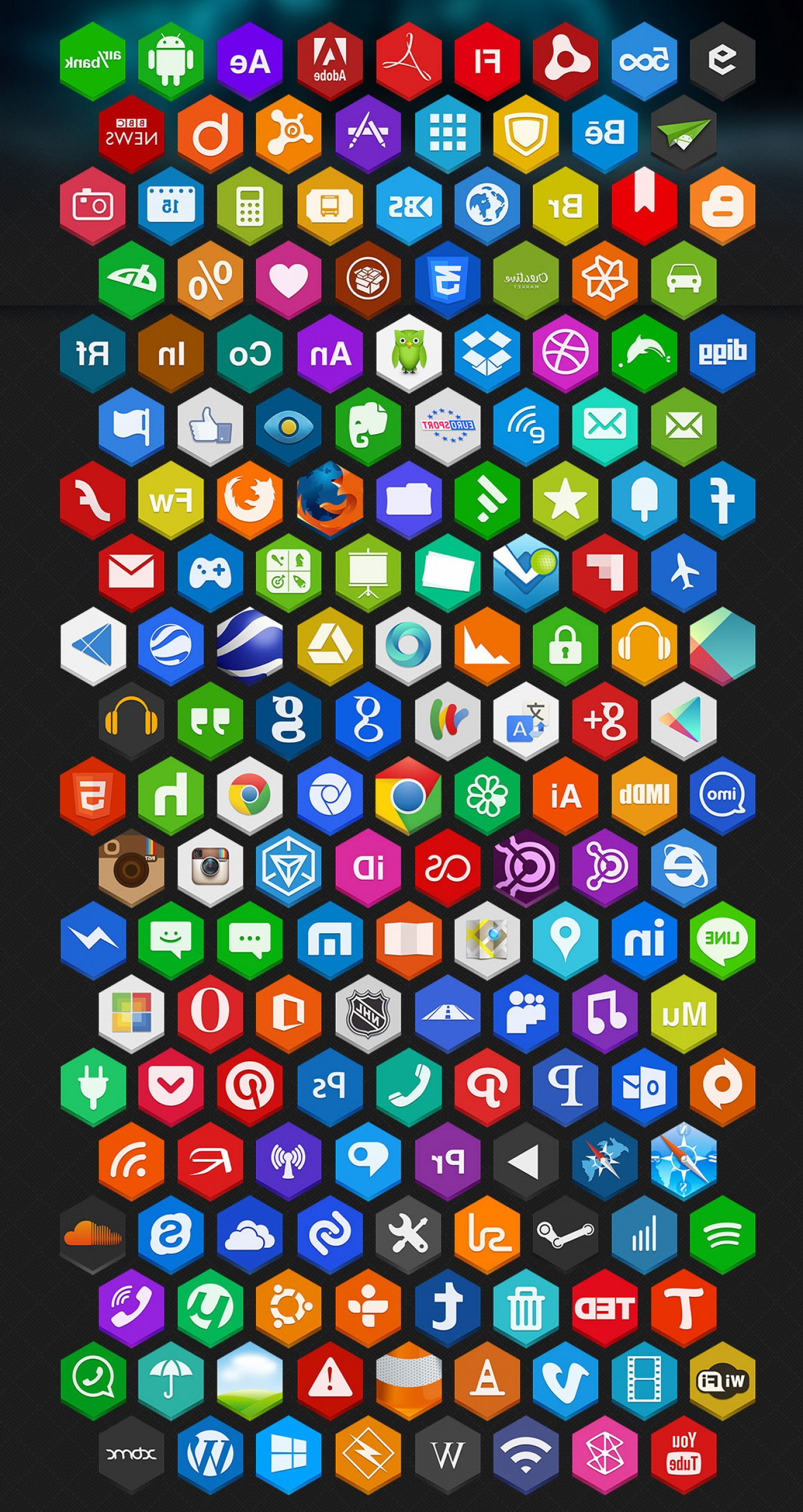 Vector Twitter Icon 2014: Free Flat Social Media Icons Sets