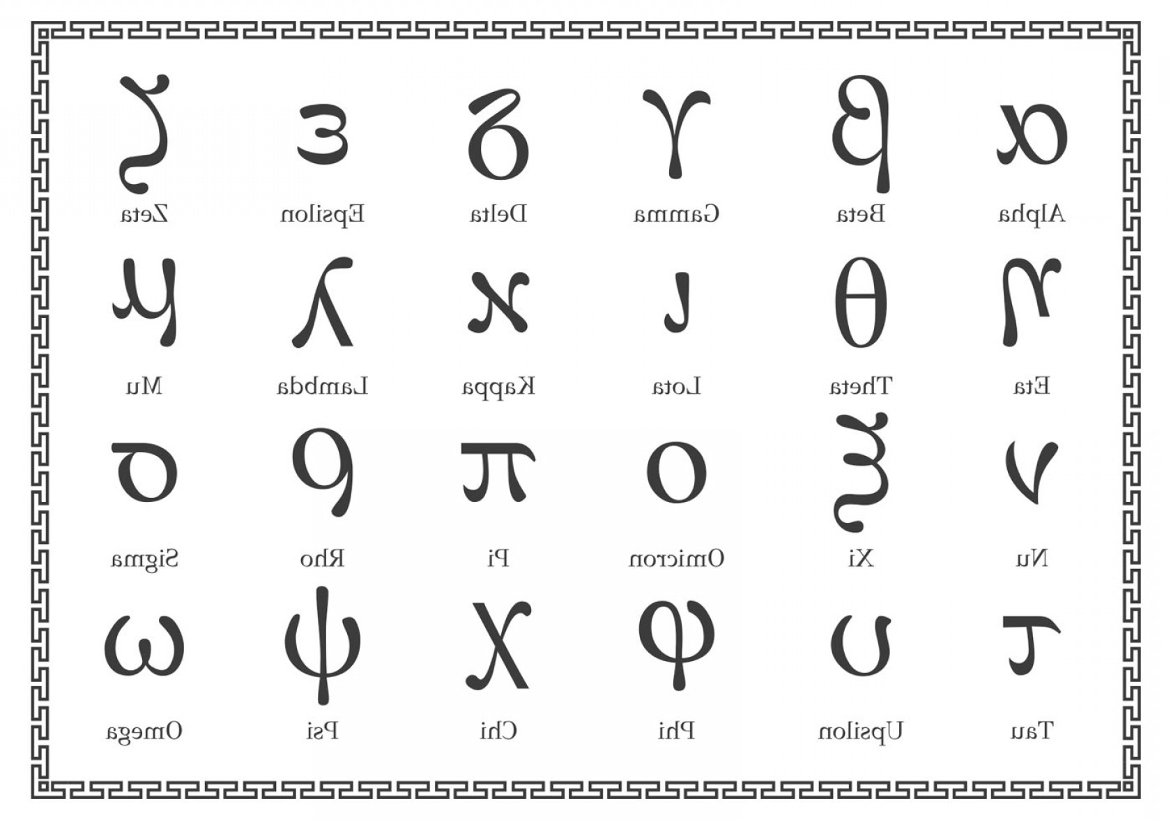 Letters Symbols Vector Art: Free Greek Alphabet Lowercase Vector
