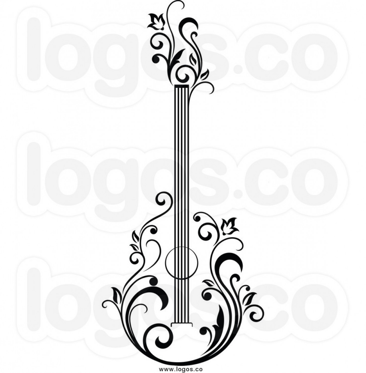 Vector Guitar Clip Art Black And White: Free Guitar Clipart Black And White