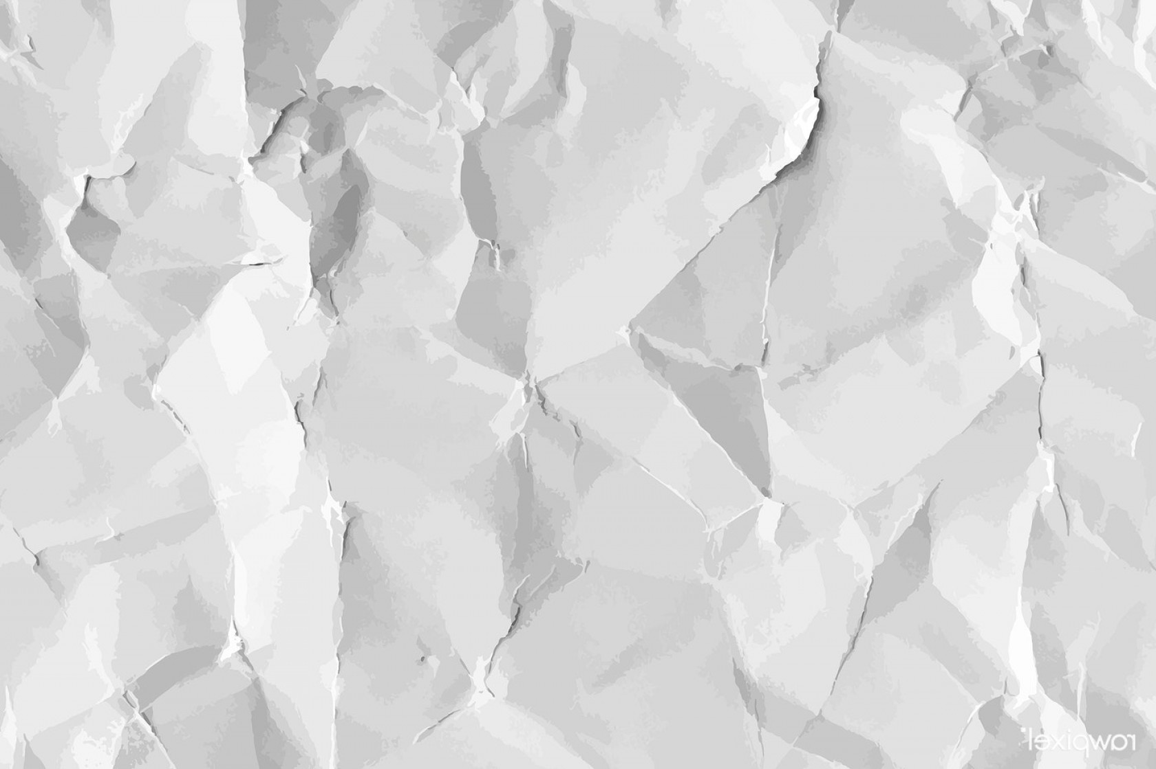 Crinkled Paper Vector: Free Illustration Image Abstract Art Background