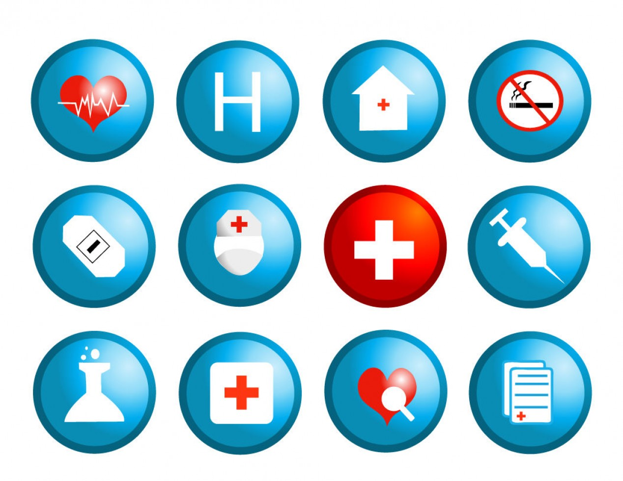 Vector Health Insurance: Free Medical And Health Vector Icons