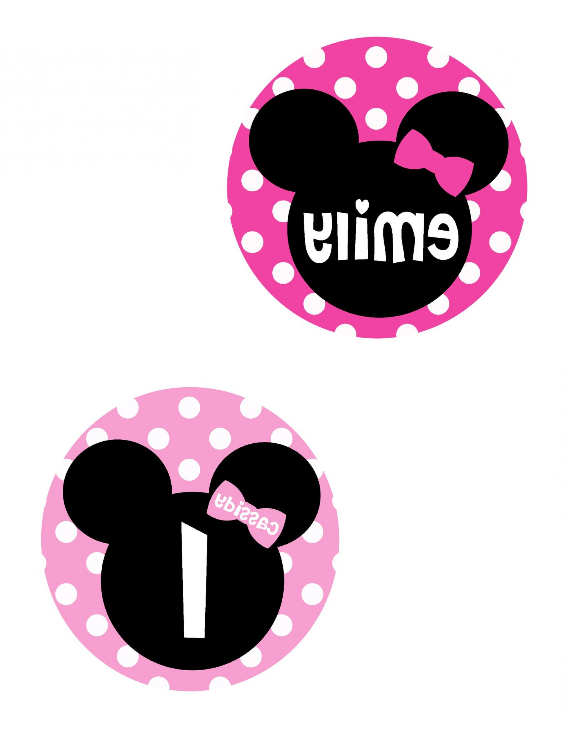 Minnie Mouse Vector Clip Art: Free Minnie Mouse Bow Template