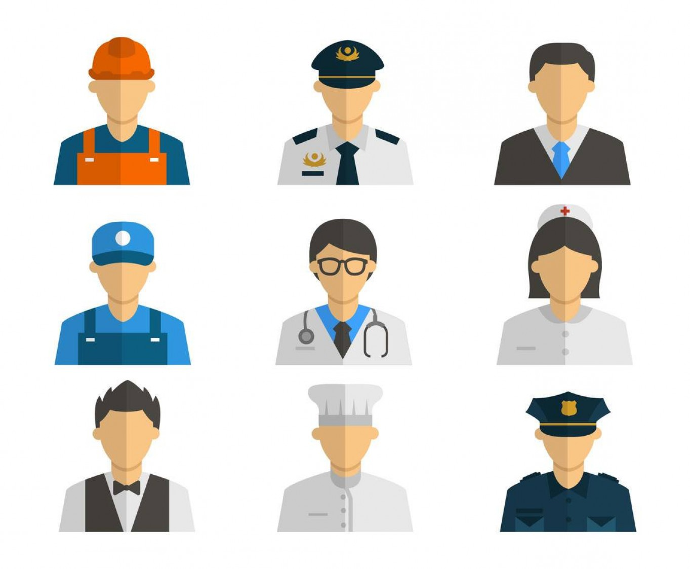 Vector People Man: Free People Profession Icons Vector