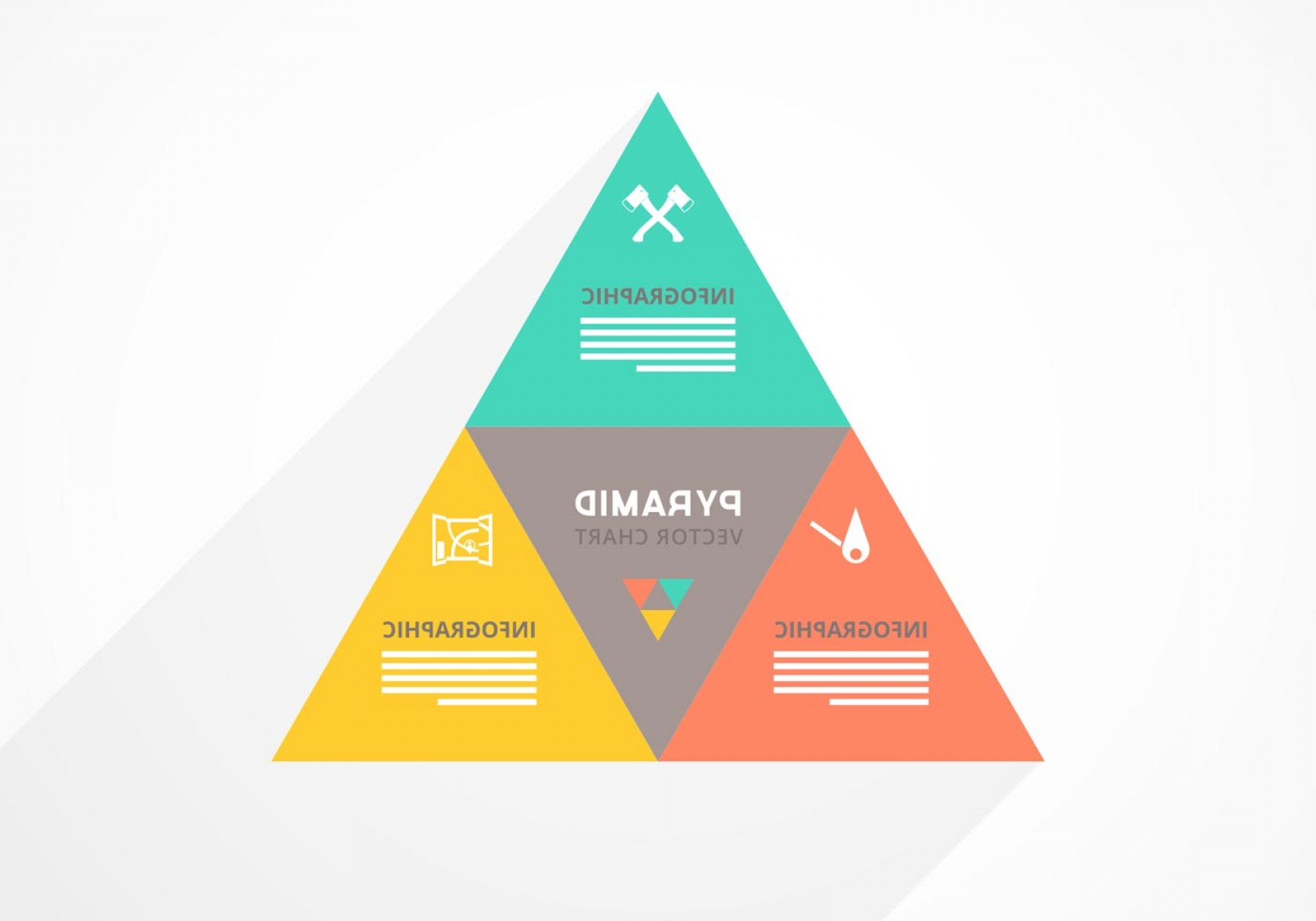 Color CMYK Chart Vector Free: Free Pyramid Chart Vector Download Art Stock Graphic