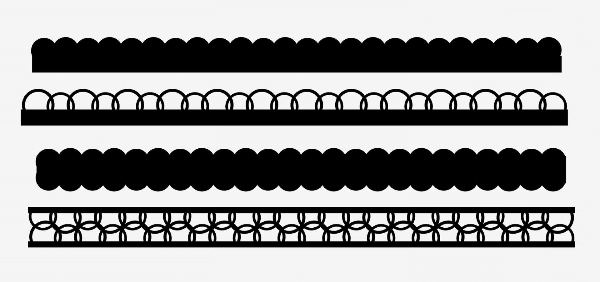 Black Scalloped Border Vector: Free Scallop Border Svg For Scrapbooking