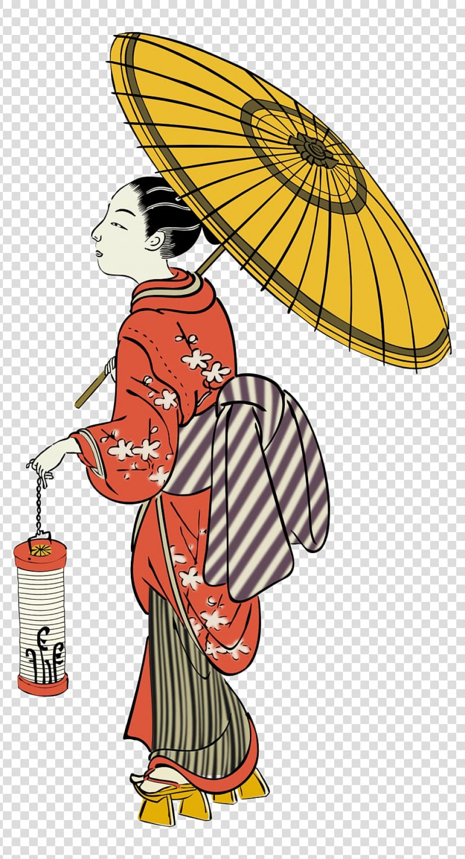 Chinese Geisha Pin Up Vector Art: Free Transparent Background Png Clipart Bqoxo