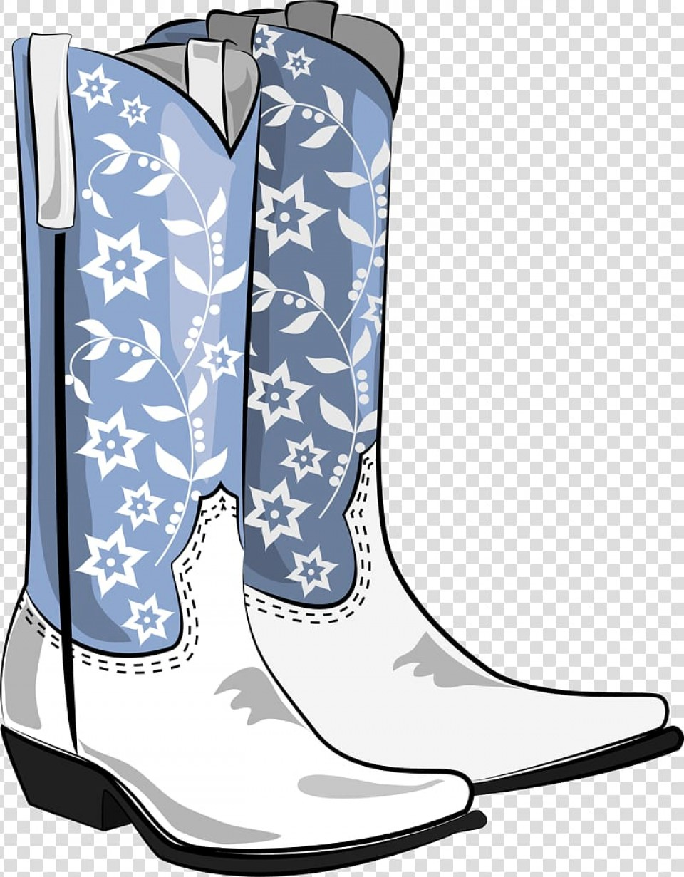 Two Cowgirl Boots Vector: Free Transparent Background Png Clipart Yzfkx