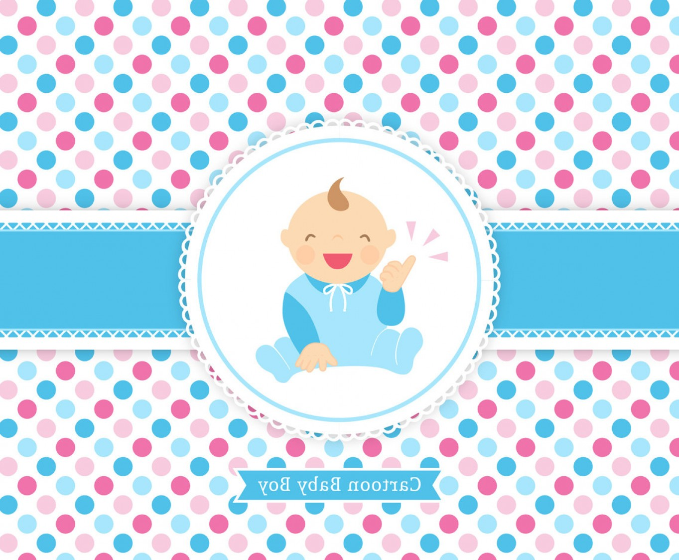 Sitting Monkey Vector Baby Shower: Free Vector Baby Boy Cartoon Card