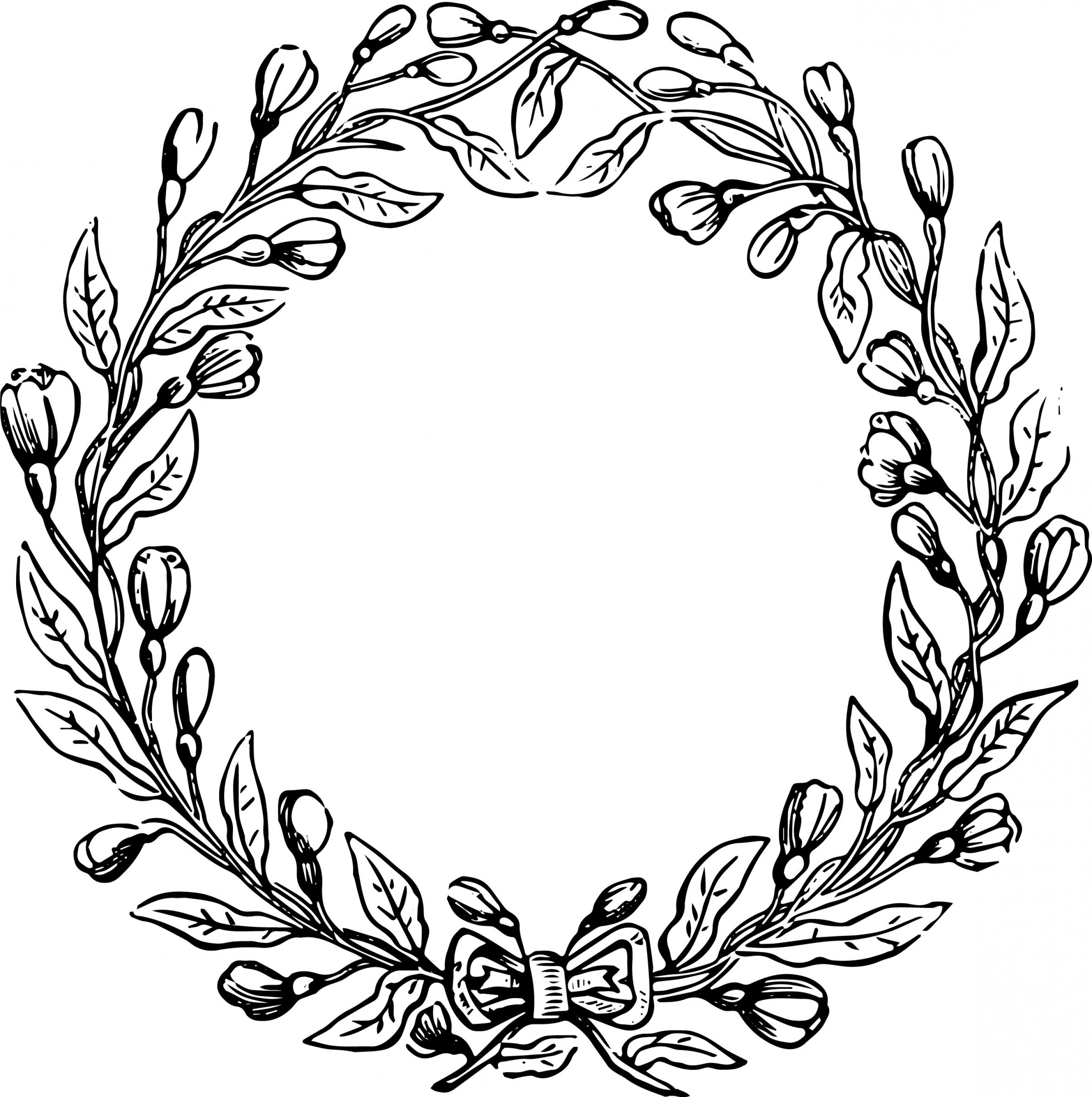 Artwork Vector File: Free Vector File And Clip Art Image Vintage Floral Wreath