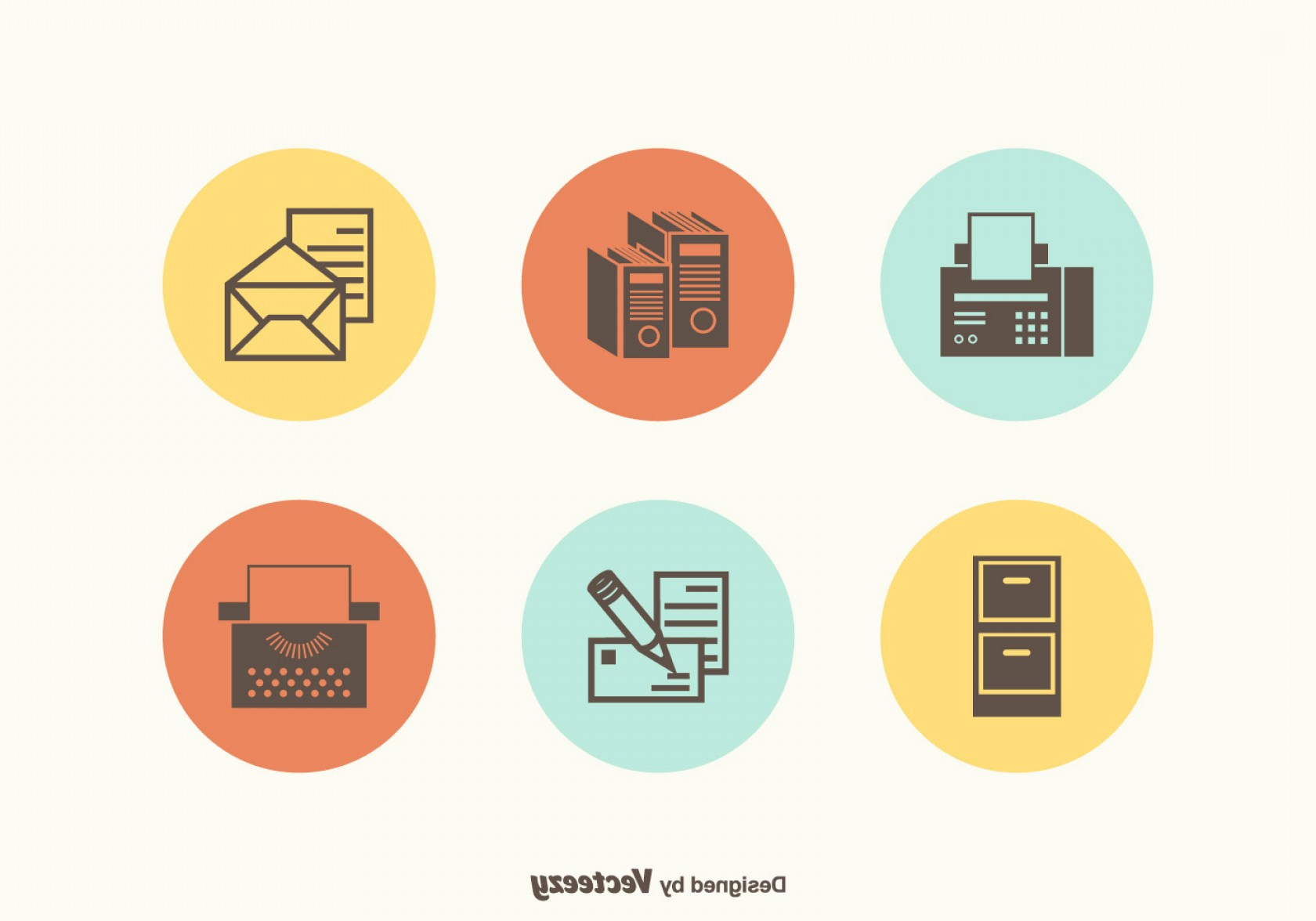 Supplies Vector Graphic: Free Vector Free Retro Office Supplies Vector Icons
