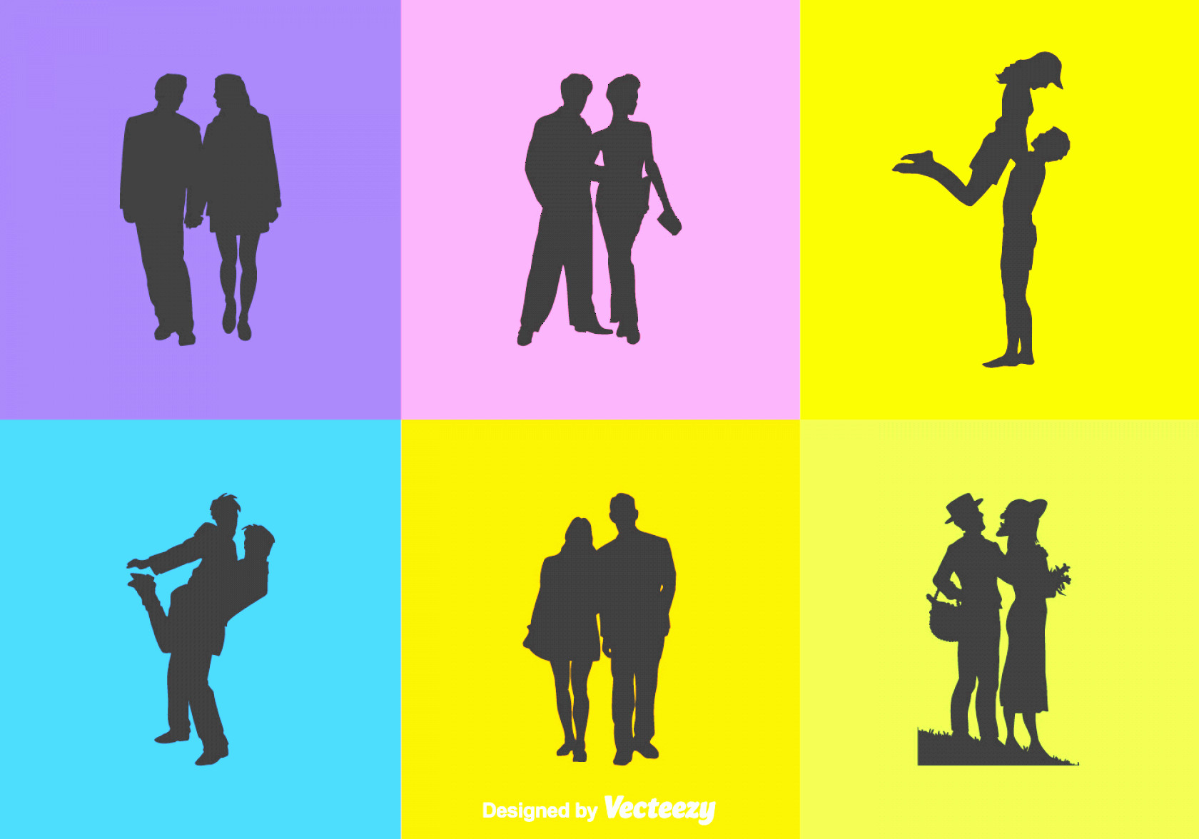 Woman Silhouette Vector Clip Art: Free Vector Man And Woman Silhouettes