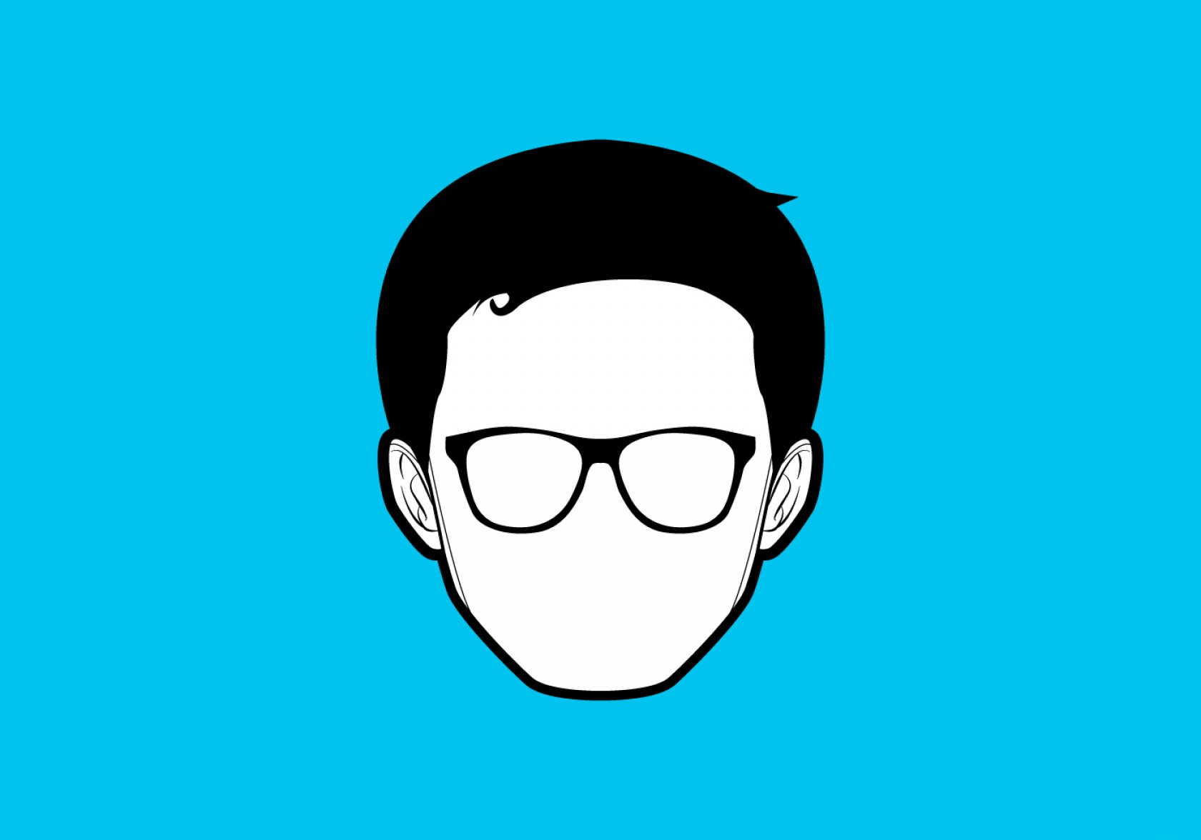 Nerd Vector: Free Vector Simple Geek Vector