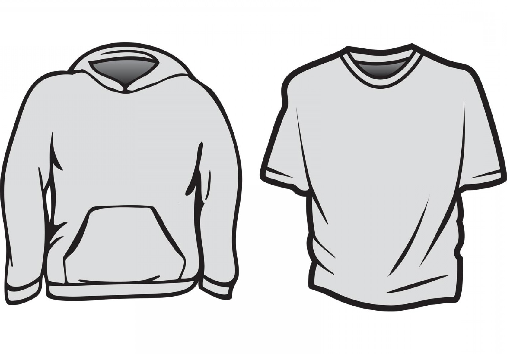 Long Sleeve Jersey Vector Template: Free Vector T Shirt Templates