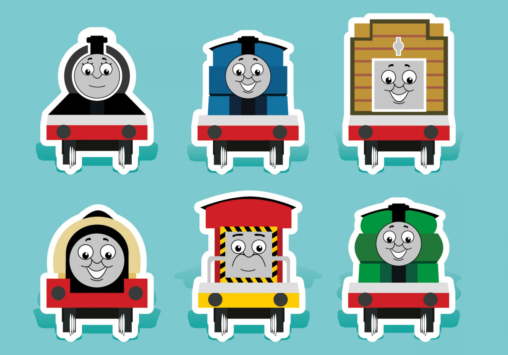 Thomas And Thomas Vector: Free Vector Thomas The Train Vectors
