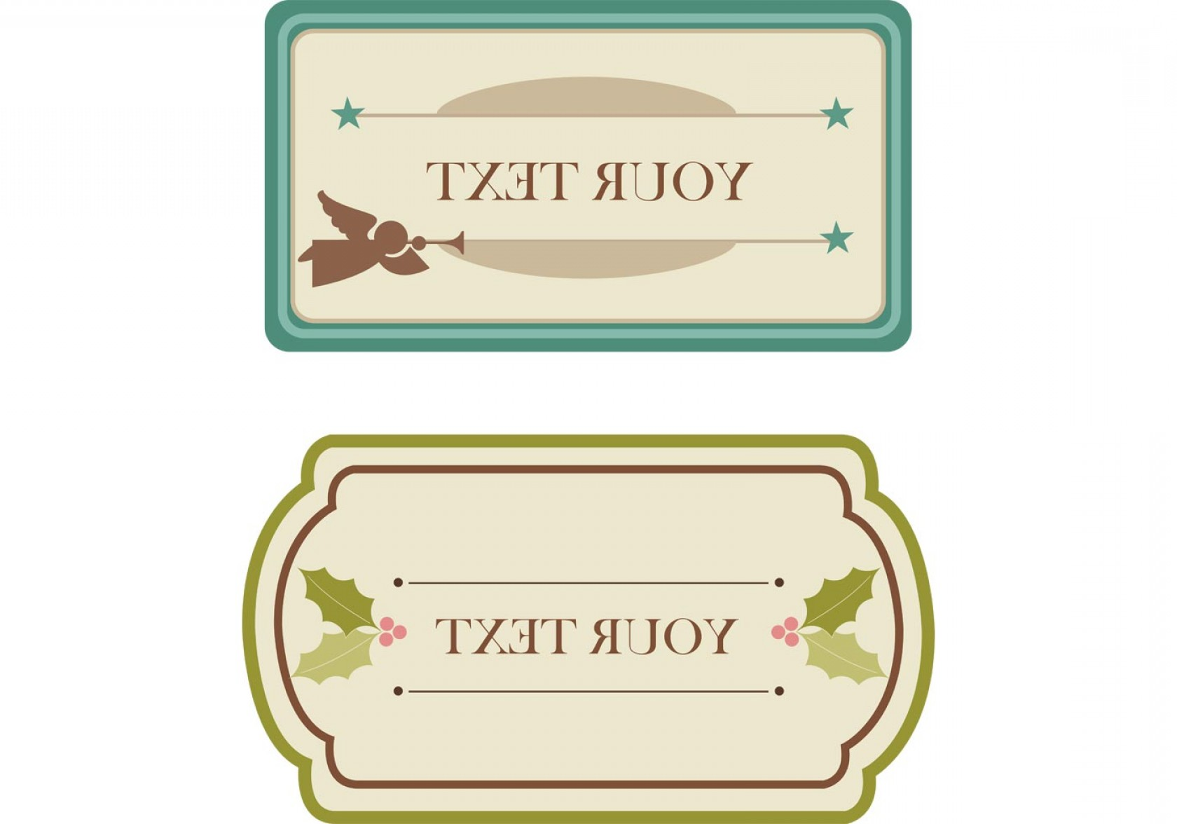 Vintage Xmas Sale Tag Vector: Free Vintage Christmas Tags And Labels Vectors